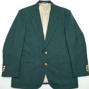 Stafford Green Blazer - 40S - 2 buttoned